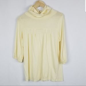 Bobi brand size S creme color  cowl turtle neck 3